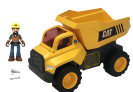 The Cat® Power Action Crew come with lights and sounds that are activated by Motion Drive Technology. Each vehicle also comes with tools that work and a Power Action Crew figure to drive the vehicle.