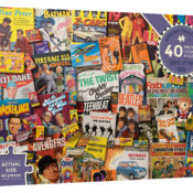 Spirit of the 60s' is a 40 piece montage puzzle celebrating some of the most loved icons and treasures from the swinging sixties era.