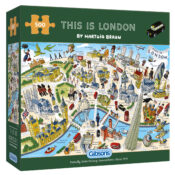 This 500 piece puzzle celebrates London by featuring its iconic landmarks and the incredible people who have lived in and loved this amazing city. Illustrated by Hartwig Braun and presented in a planet-friendly box.