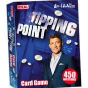 Based on the popular TV game show. This card game combines general knowledge question and answers with nail-biting unpredictability. Choose a Drop Zone, answer the question, roll the dice to push or ride, drop the counters and bank the payout.