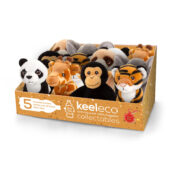 keeleco is the NEW 100% recycled range from Keel Toys. These eco-friendly toys are manufactured and stuffed with 100% recycled polyester from plastic waste.