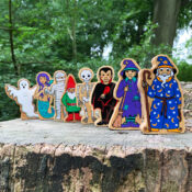 Bring magic to playtime with Lanka Kade's range of toy Mythical figures including Witch, Wizard, Ghost, Vampire, Skeleton, Egyptian Mummy, Mermaid and Gnome. These sustainable fair trade wooden toys are perfect for imaginative play and a great pocket money price.