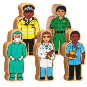Lanka Kade have 20 NEW people who help us wooden toy characters arriving this Spring. Equal in reflection of our society, these designs include key workers to encourage children to learn through play and connect with the outside world.