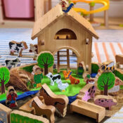 Lanka Kade's range of farm toys for children include deluxe and junior playsets, farm animals, tractors, puzzles, building blocks, skittles and more. Eco-friendly, sustainable wooden toys at pocket money prices, perfect for children and as collectable souvenirs from trips out.