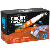 Take learning about circuits off a flat board and into a fun 3D space-themed world. Line up the circuitry graphics on the construction pieces to close the circuits, and build a Rocket, Rover or Deluxe Base Station.
