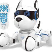 A new playful best friend for hours of fun! The Power Puppy can act like a real dog and even more! It can be trained to new tricks like dance, yoga and push-ups, and it reacts to your caresses.