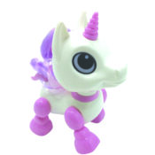 This cute unicorn become your first pet friend! With its little size, the Power Unicorn can always be with you. If you move its head, it will reveal its tricks: karaoke, dance, move forwards and backwards when you applause.
