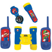 Play with your friends as real spies thanks to this Super Mario adventure set which contains a pair of walkie talkies with 120 meters transmission range, binoculars, compass and torchlight.
