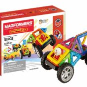 Based on a global best-seller, the new Magformers WOW Plus set now makes 30 different cars and features a removable driver character with swappable helmets. Also contains 8 puzzle sheets for younger kids and 'how-to-build' layout sheets. Now 18 pcs.