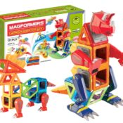NEW! With the mega 121-piece Magformers Wonder Creator set you can make Godzilla-like mega monsters and smash them into a cityscape you build. Contains a whopping 12 different magnetic shapes plus monster body parts. It's just roar-some!