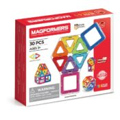 The Magformers 30 Set is a classic around the world, with 18 squares and 12 triangles. The simplicity of this set makes it so popular - children can easily make 2D flat nets and their 3D counterparts.