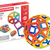 For children looking to scale up their existing collection - or get ambitious with some projects - the Magformers 62 Set contains 62 pieces, including 12 pentagons. Superfun and super creative it's brilliant for making 2D nets and 3D models.