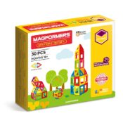 A great way to introduce younger children to the magical magnetic world of Magformers, the My First 30 Set contains 30 pieces in bright, crayon colours. With an illustrated guide book, it's a perennial best-selling set.