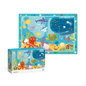 The Dodo Observation Puzzle Underwater is an exciting educational puzzle that includes 80 pieces. Once built there are objects/animals highlighted in the border which the child can then seek out in the puzzle for additional fun. 5 Years+
