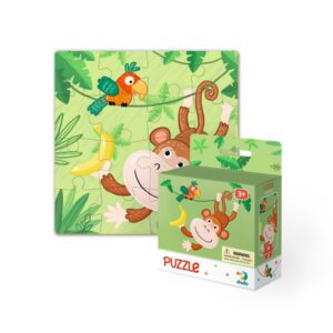 The Dodo Puzzle Monkey is an ideal puzzle for pre-schoolers, with its cheeky and adorable animal design. With 8 characters to collect these puzzles are prime for impulse purchases and include 16 puzzle pieces making them ideal for children 3+