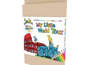 My Little World Tour : Around the World in 15 colour, cut out and play card.
