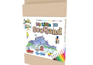 My Little Scotland : Edinburgh Castle. Portable Cut out , Colour and Play Set.