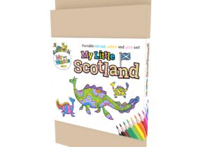 My Little Scotland : Loch Ness Monster. Portable Cut out , Colour and Play Set.