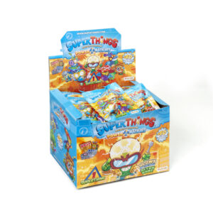 Each packet contains a SuperThing and a checklist of the 80+ characters to collect. Each SuperThing has its rival: find the rival pairs and build  Super teams. Large range available. TV advertised.