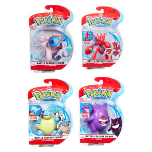 Get ready for some of the most action-packed Pokémon battles you've ever seen! An awesome assortment of 4.5-inch in-scale Pokémon figures.Each figure features authentic details.