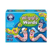 Wiggly Words is brain-teasing dominoes game for the whole family that makes spelling practise fun! Featuring hilarious characters, players take turns to build a new word by adding to the wiggly domino line.