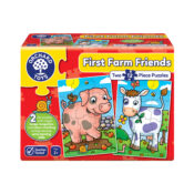 Suitable for children from 2 years old, First Farm Friends includes two 12-piece jigsaw puzzles which feature friendly animals to piece together. With chunky pieces and bold illustrations this collection is the perfect introduction to puzzles.