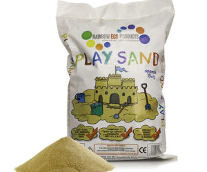 High quality soft Play Sand made of natural quartz. Clean, safe and pale in colour....just like the beach! Ideal for sand pits and water trays, it's washed, screened and has a rounded grain so its safer for kid's eyes.
