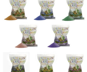A range of brightly coloured play sands that are suitable for sand pits, trays, arts and crafts. High quality and eco-friendly, it's tactile, fun and creative for kids. 8 colours to choose from. Available in 5kg bags.