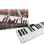 Learn, play, record. This fun piano mat teaches you how to play five different songs with your feet.
