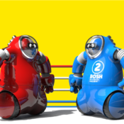 The biggest fight of the century, Bish vs Bosh. Retro meets futuristic when it comes to these two sumo wrestlers, equipped with big hands that pack a punch!