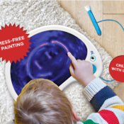 Mess free pad lets you draw with light! Includes 10 different colours or LED light for exciting design. Sing while you draw with 6 unique musical tones.