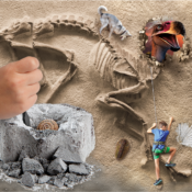 Dig into science and unearth genuine fossil specimens using the dig tool, just like a real paleontologist!
