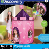 Part of the Discovery role-play and imaginative play range. Pop up tent can be used indoors and out for plenty of fun for little princesses.