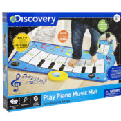 Ideal dance mat for pre-schoolers to start exercising and make music. With built in song library featuring 8 children's classics