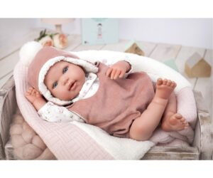 Every baby is special, but the Arias reborn babies are small works of art. Handmade in Spain, the dolls look like real babies. Gael is perhaps the most realistic reborn doll of the collection.