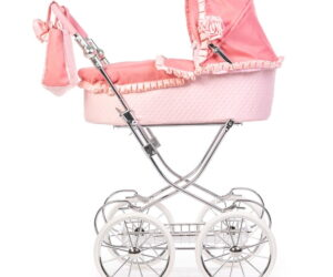 Designed by Amy Childs and Roma to suit little girls for all ages. The Annie is suitable from 3 years old to 16 years old with a fully adjustable height ranging from 59.5 - 93cm. Spanish style dolls pram.