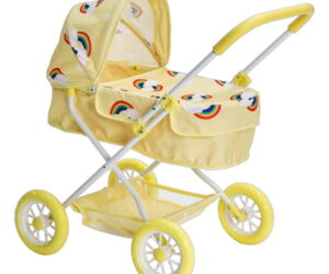 The Roma Rupert dolls pram is designed to to suit both little boys and girls from the age of 3. The Rupert dolls pram comes in two colours, primrose and mint.