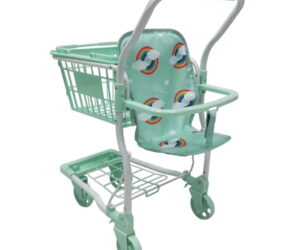 The Rupert shopping trolley has a sturdy frame with front swivel wheels for an easy pushing motion.   The Rupert shopping trolley measures 62cm from the floor to the the handle.