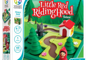 Find the path to Grandma's house! Lay all the pieces on the board so you build a path for Little Red Riding Hood to reach Grandma's house? Includes 48 challenges and features a family-friendly picture book