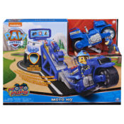 The PAW Patrol Moto Pups HQ Playset features a Chase figure, exciting sounds, a motorcycle launch ramp and looks just like the PAW Patrol's action-packed headquarters from the show. It's also compatible with all other Moto Pups Deluxe Vehicles.