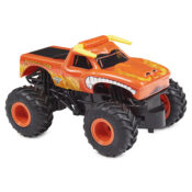 Take control of Monster Jam's raging bull with the all-new, official 1:24 scale El Toro Loco RC. Drive the authentically styled, heavy-duty remote control truck and perform awesome stunts, crazy crashes and brutal bashes.