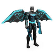 The new deluxe Bat-Tech Batman 12-inch Action Figure features large bat wings that expand, accessories that light up and over 20 exciting sounds and phrases. With blue Bat-Tech styling and seven points of articulation, bring the Gotham action to life.