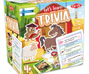 Children answer both open-answer questions and questions with given answers. Large question cards make the game easier to play and the adorable animal characters will help engage the child with the questions. Age 4 years+.