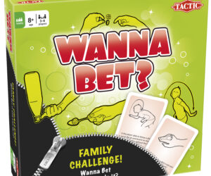 Exciting family challenge game where each player tries to solve both physical and puzzling tasks to win big, while the other players bet on whether they can manage the task or not. Age 8 years+
