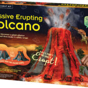 Build a giant volcano model from cardboard and plaster. Decorate with paint, boulders, dinosaurs and prehistoric plants. Using safe chemical reactions, erupt and watch the lava bubble and flow. Learn about real-life volcanoes and their causes.