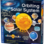 Set the planets in motion with a flick of your wrist! Build a mechanical model of the solar system (orrery) including the sun and eight planets, wind it up, and watch the planets revolve around the sun.