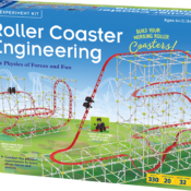 Design and build your own working rollercoaster models. Conduct hands-on physics experiments to learn about force, motion, and energy. The plastic building system is durable, easy-to-assemble and reusable. Includes full-coour manual with step-be-step assembly instructions and scientific explanations.