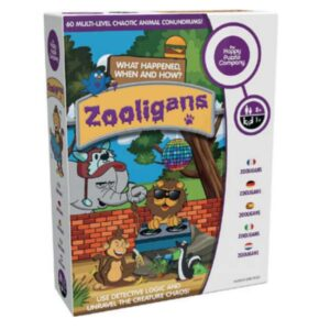 Every evening, after the zoo closes, several of the animals manage to escape and start causing chaos. The zookeepers have hired you, an animal detective, to gather clues and determine what happened, when and how in these 60 challenges.