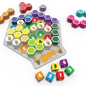 There are 46,656 unique combinations in which the dice can fall, all have at least one solution. Some combinations will be easy and some much harder. Bee Genius is a non-competitive game, devised to help children develop their thinking skills.There