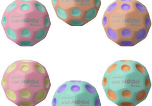 New smaller size! It's 40% smaller in volume than the regular Moon Balls, but still bounces out of this world.   • Patented super high bouncing ball  • Addictive bounce and sound